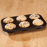Toaster Oven Muffin Pan by Home-Style Kitchen, Black