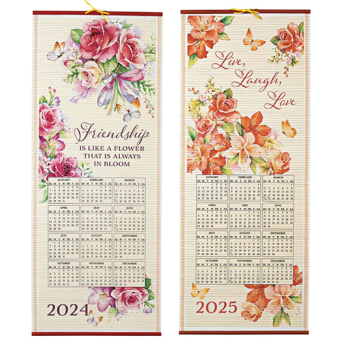 Pastel Floral Scroll Calendar-355494