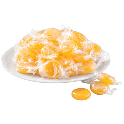 Old Fashioned Butterscotch Candy, 17 oz. Rich, buttery and long lasting--this butterscotch candy melts in your mouth like sweet, golden comfort. Pure bliss for any candy dish, each individually wrapped butterscotch disk indulges your tastebuds in a warm hug of smooth, silky satisfaction. Grandma stocked up on the old-fashioned classics for good reason .... nothing compares! 17 oz.