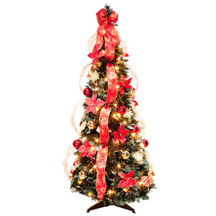 Pop Up Christmas Tree.4 Ft Pull Up Poinsettia Tree By Holiday Peak