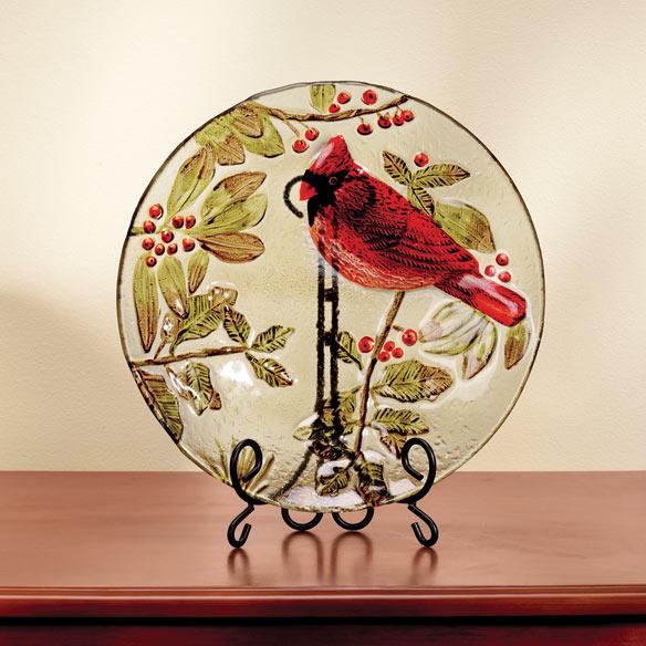 Фото #1: Glass Cardinal Serving Piece
