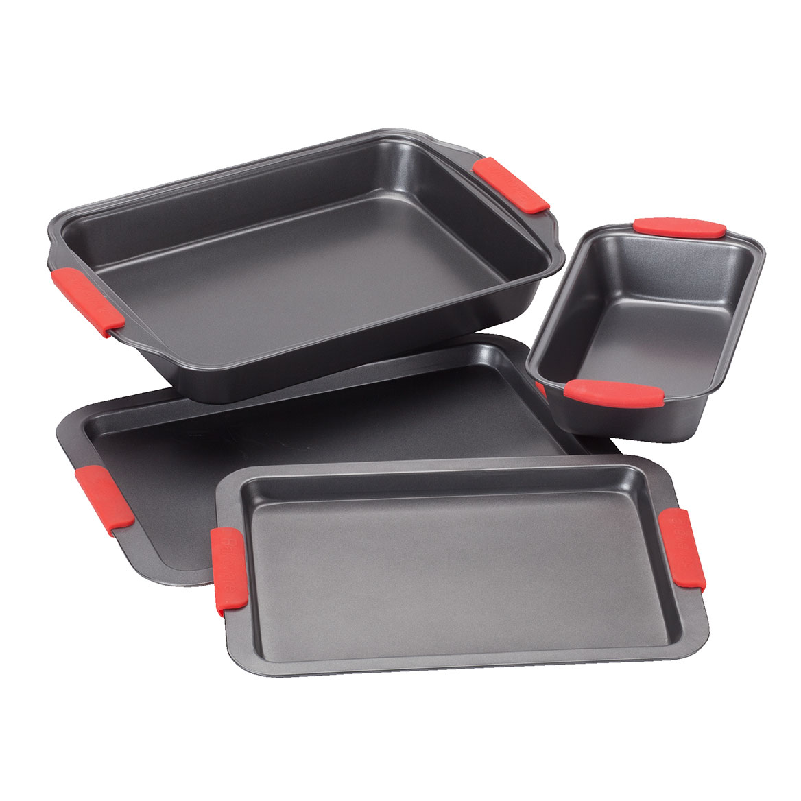 Cook's Essentials Baking Set with Red Silicone Handles-356760