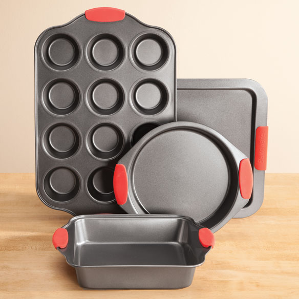 Baker's Essentials Baking Set w/Red Silicone Handles by HSK