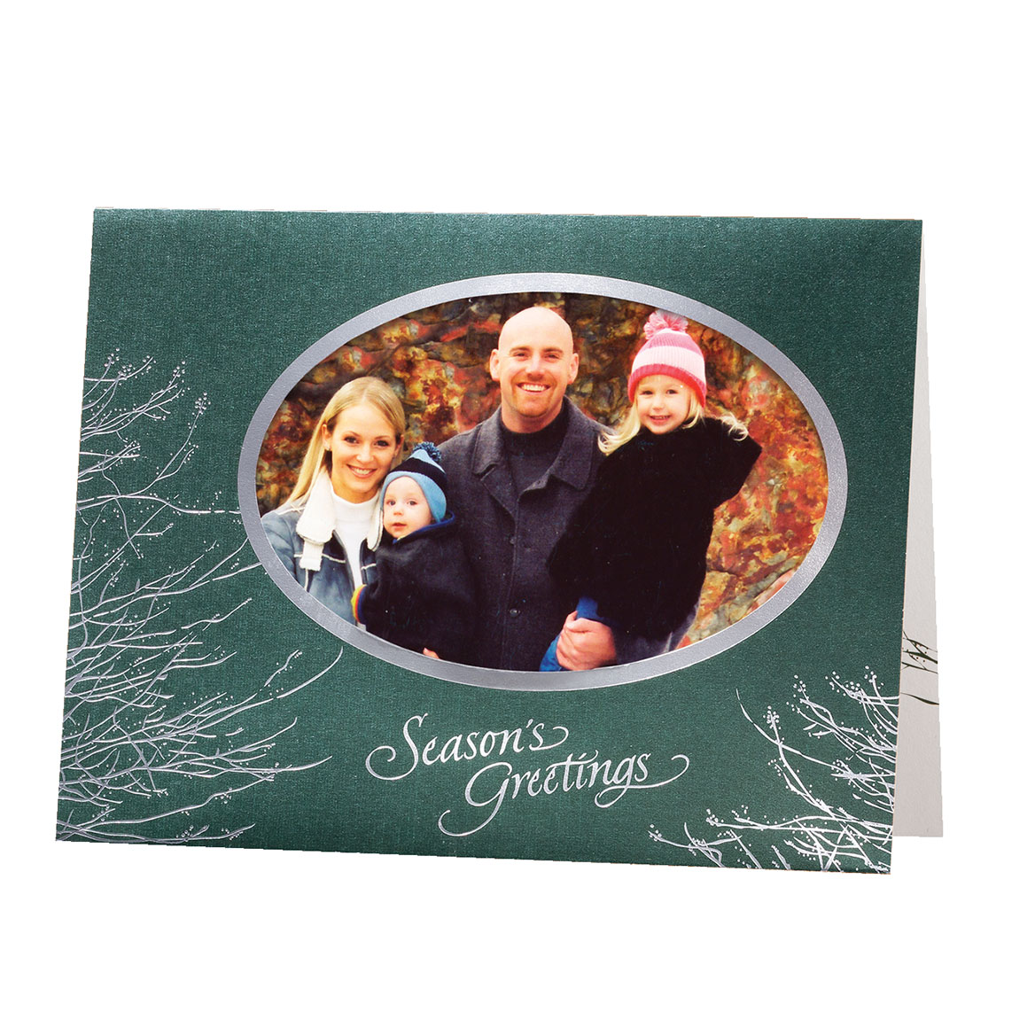 Silver Boughs Holiday Cards - Set of 18-356778
