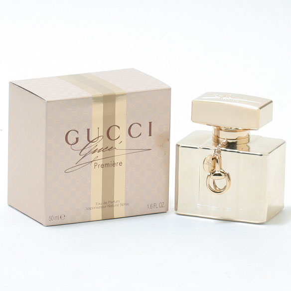 Gucci Premiere for Women EDP -1.6oz Gucci Premiere is a musky, woodsy, floral women's fragrance. This hot scent is as seductive as it is sweet. Housed in a gold bottle, it starts out sweet with berries and bergamot. Middle notes of musk and orange blossom are fragrant and sexy. A base of sandalwood and patchouli will keep them guessing! 1.6 fl. oz. EDP Spray. No express shipping. No shipping to PO boxes.