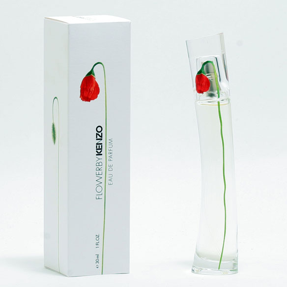 Kenzo Flower Women - EDP Spray Kenzo Flower women's perfume is a citrus-fruity scent with floral undertones. It is subtle and warm, but not too sweet. Made from notes of hawthorne, cassis, rose, jasmine, violet, opoponax, vanilla and white musk, it's no wonder that so many women have become addicted to Flower. Pick some up and become addicted too. Features top notes of Hawthorne and Cassis, middle notes of Rose, Jasmine and Violet and base notes of Opoponax, Vanilla and White Musk. 1 fl. oz. EDP Spray. No express shipping. Please allow 3-4 weeks delivery time. No shipping to PO boxes.