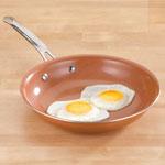 Ceramic Non-Stick Pan, 9-1/2 Inch, Brown