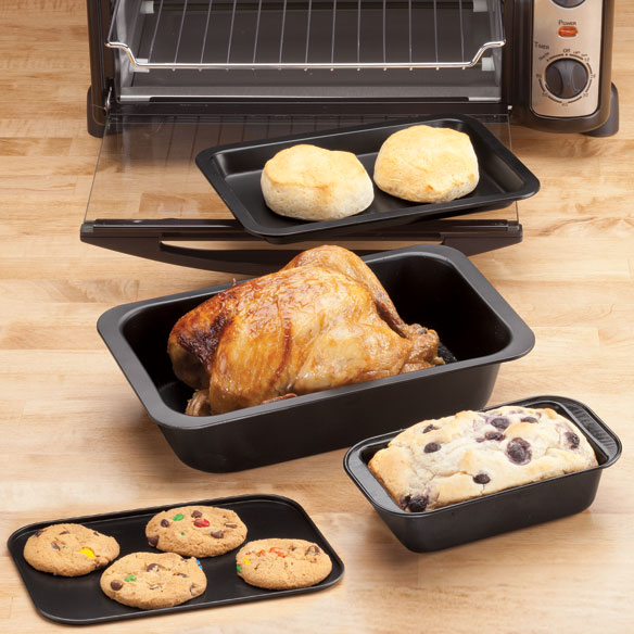 Toaster Oven Basic Pans Set of 4 by Home-Style Kitchen