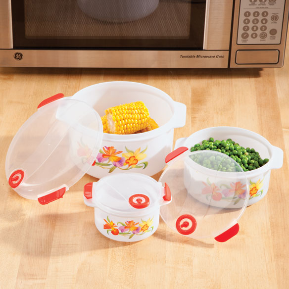 Floral Microwave Pot Set