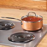 Ceramic Non-Stick Sauce Pan with Lid, 3 Qt, 3 Quart, Copper