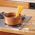 Ceramic Non-Stick Stock Pot with Lid, 5 Qt, 5 Quart, Copper