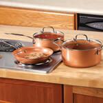 Ceramic Non-Stick Pans Set, Copper