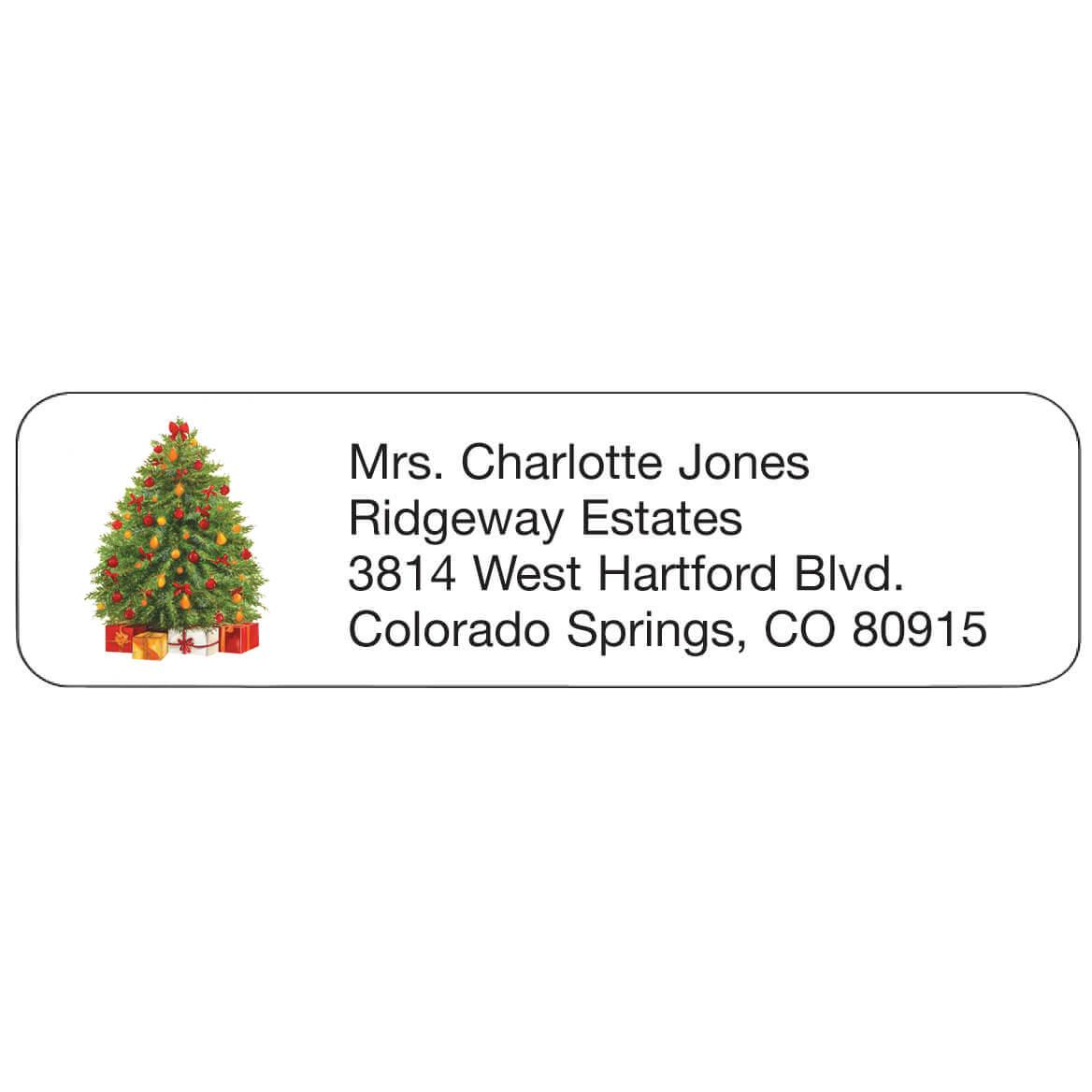 Personal Design Labels Festive Tree, Set of 200-357753