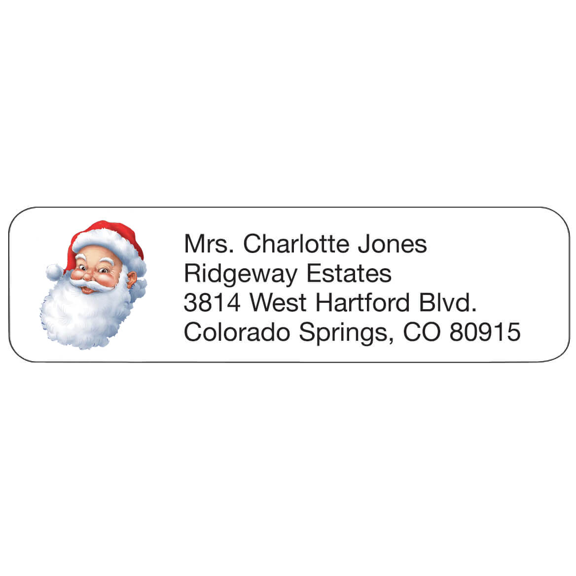 Personal Design Labels Jolly St. Nick Set of 200-357756