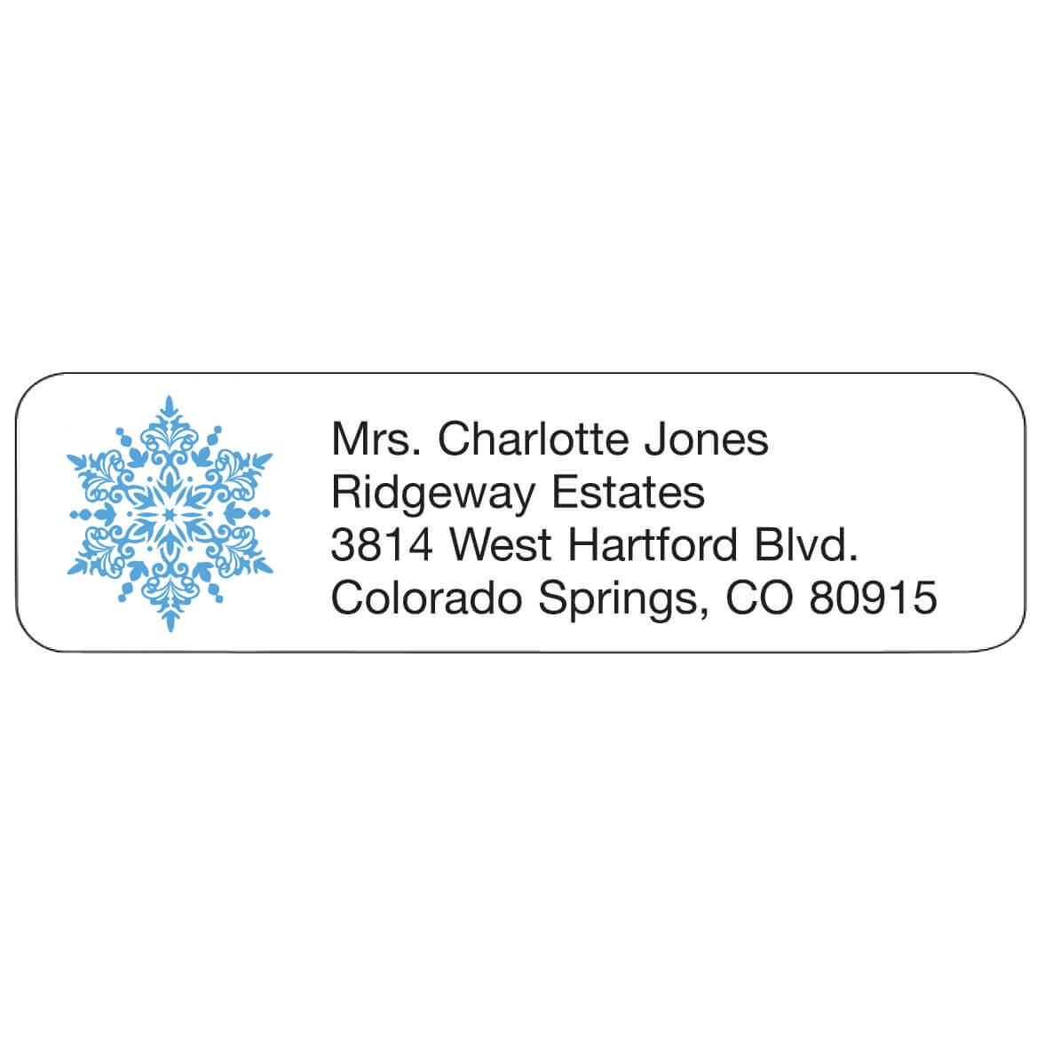 Personal Design Labels Snowflake Set of 200-357757
