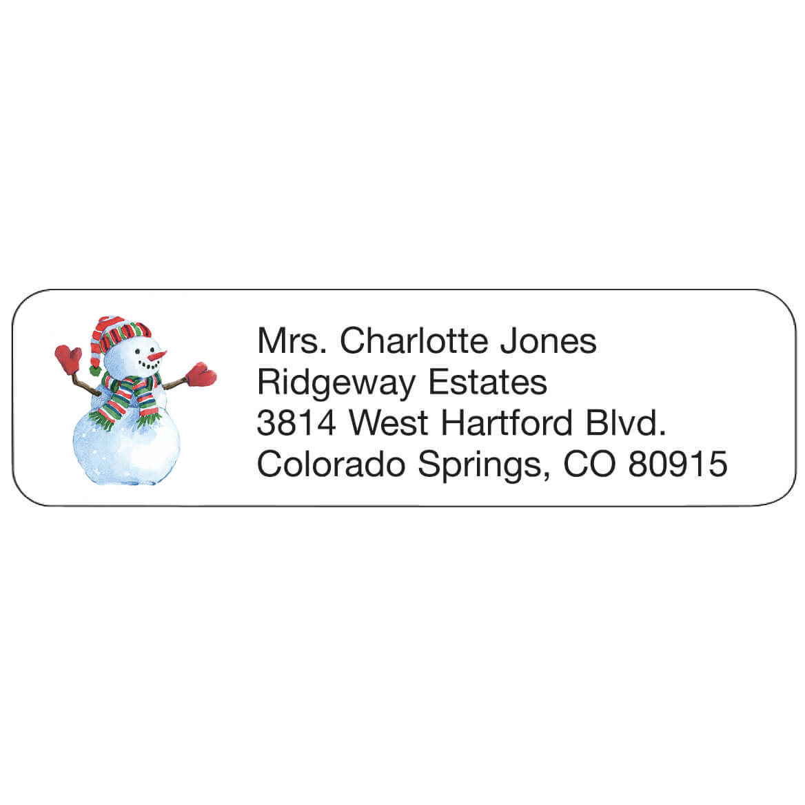 Personal Design Labels Snowman Set of 200-357758