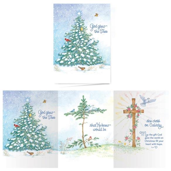 Купить со скидкой God Grew the Tree Non-Personalized Card Set of 20