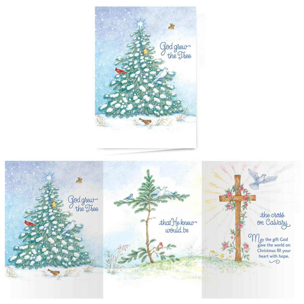 God Grew the Tree Non-Personalized Card Set of 20 - Walter Drake