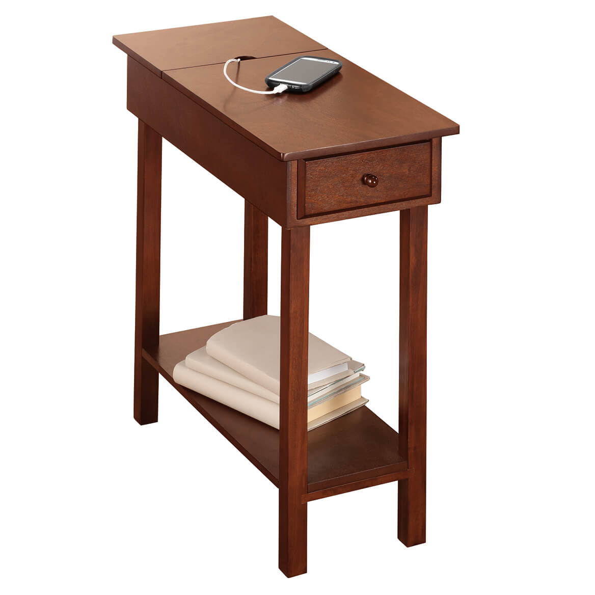 Amazing Chairside Table With Usb Power Strip By Oakridge Download Free Architecture Designs Rallybritishbridgeorg