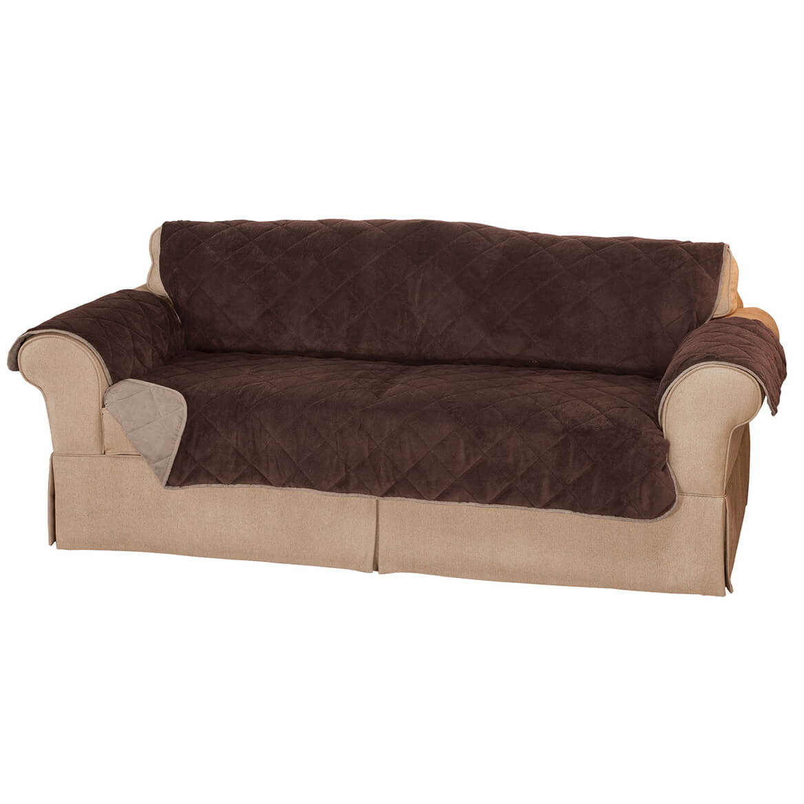 Plush To Suede Waterproof Sofa Protector By Oakridge