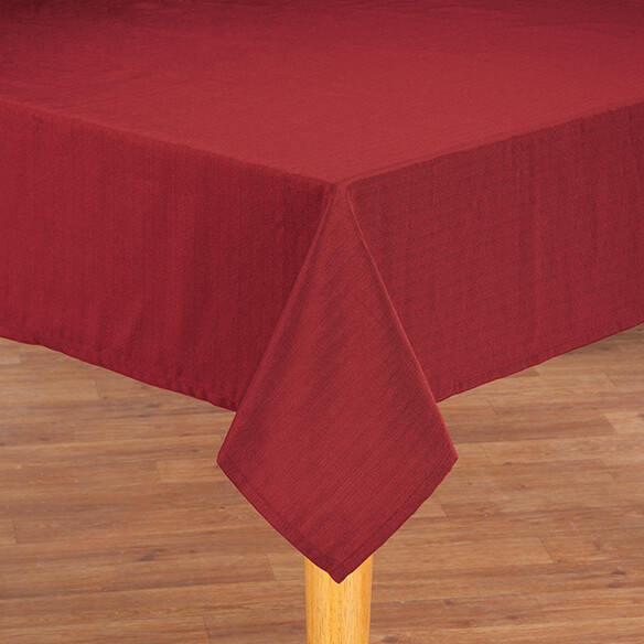 Sophia Tablecloth by OakRidge Kitchen Gallery by OakRidgeTM Create a simply sophisticated look for entertaining and everyday living. Our exclusive Sophia tablecloth by OakRidge Kitchen Gallery adds color and beauty to any table setting while protecting furniture from scratches. Part of our new Sophia Kitchen Collection by OakRidge Kitchen Gallery, it's available in 4 colors: chocolate, burgundy, beige or sage. 85% polyester/15% cotton. Machine wash. Modern tablecloth coordinates perfectly with our Sophia chair pad, table runner, placemats and valance (sold separately). Mix and match to create your own unique look.