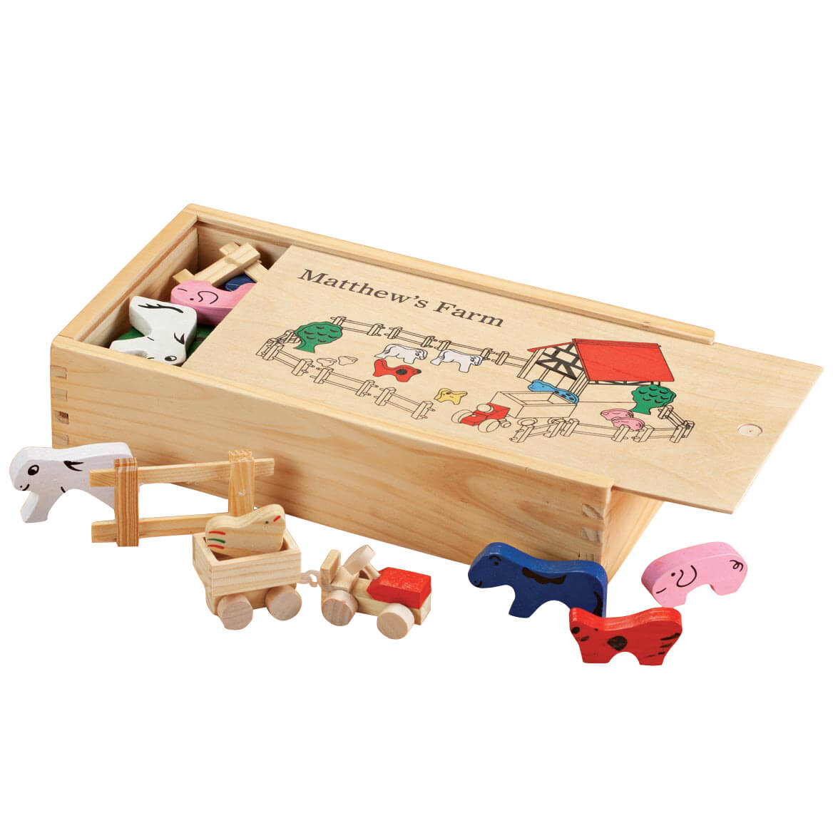 Personalized Children's Wooden Farm Set-358742