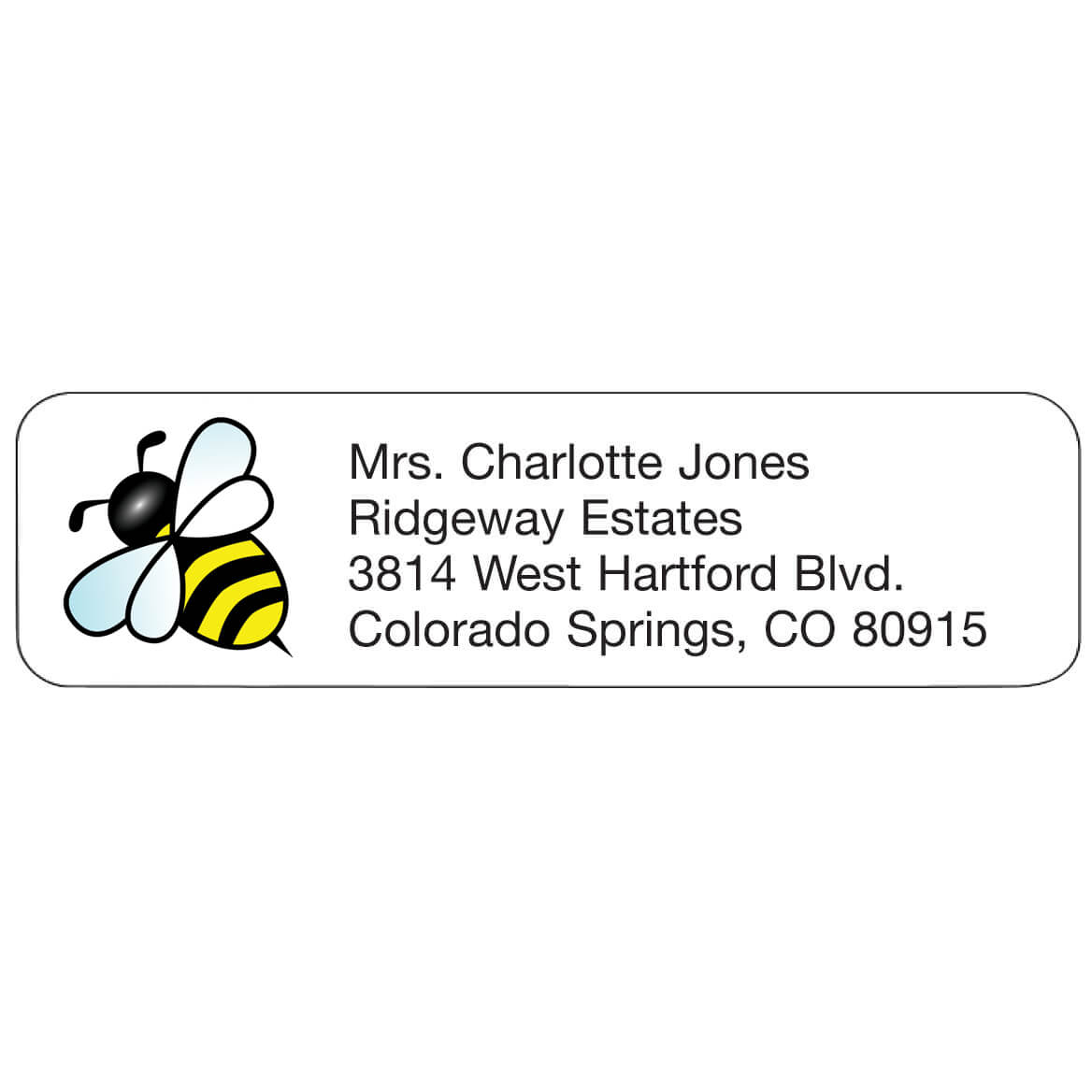 Personal Design Labels Bumblebee-358933