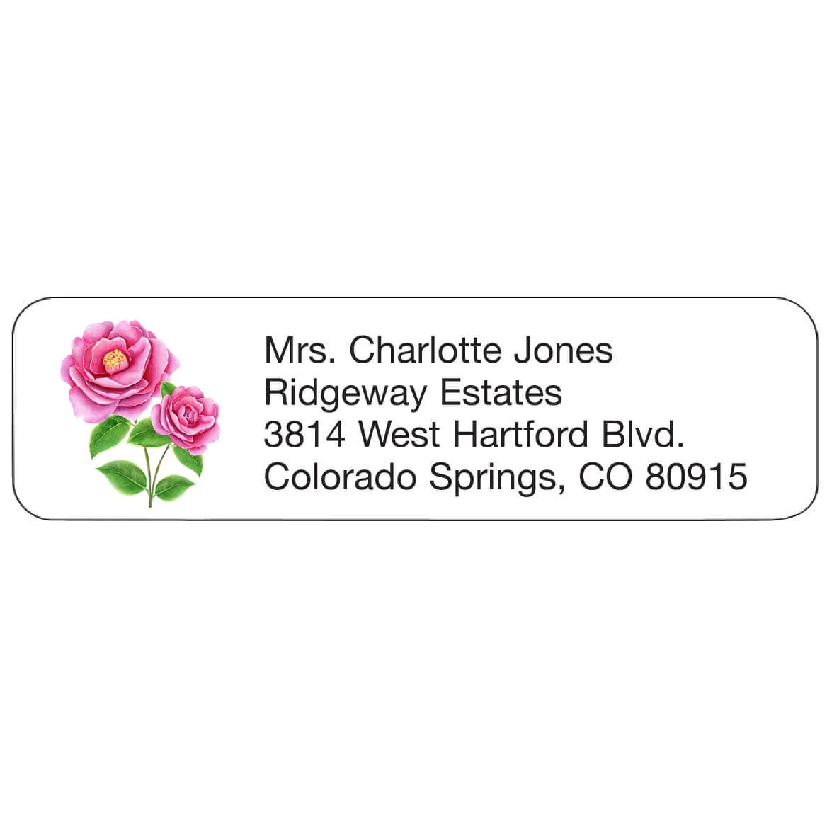 Personal Design Labels Pink Flowers-358941