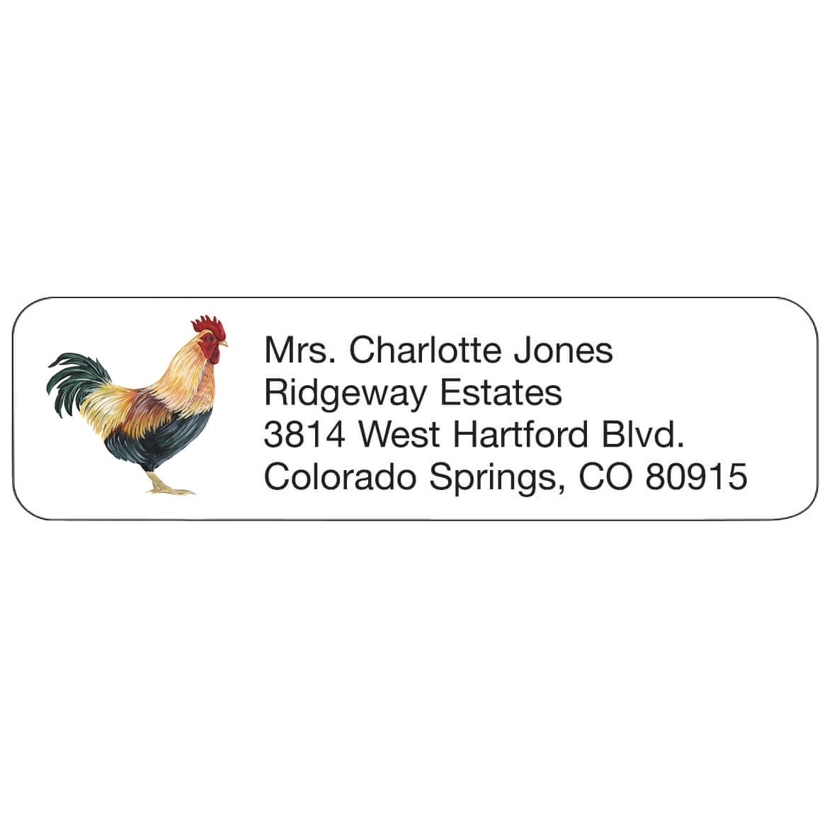 Personal Design Labels Rooster-358942
