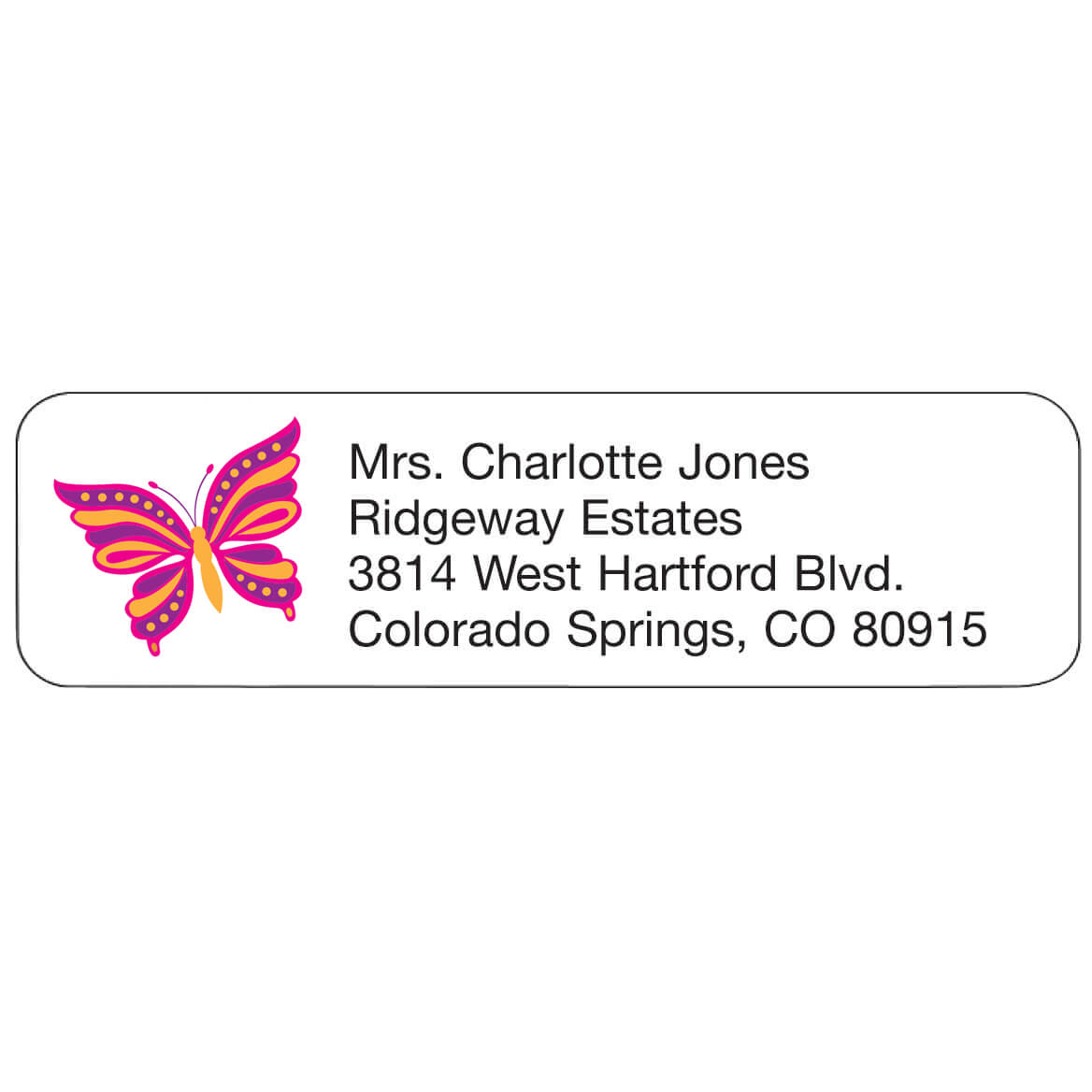 Personal Design Label Butterfly-358972