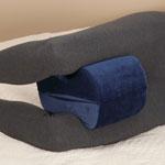 Memory Foam Knee and Leg Rest Pillow, Navy Blue