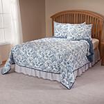 The Savannah Reversible Comforter by OakRidge ComfortsTM, Twin, Slate Blue