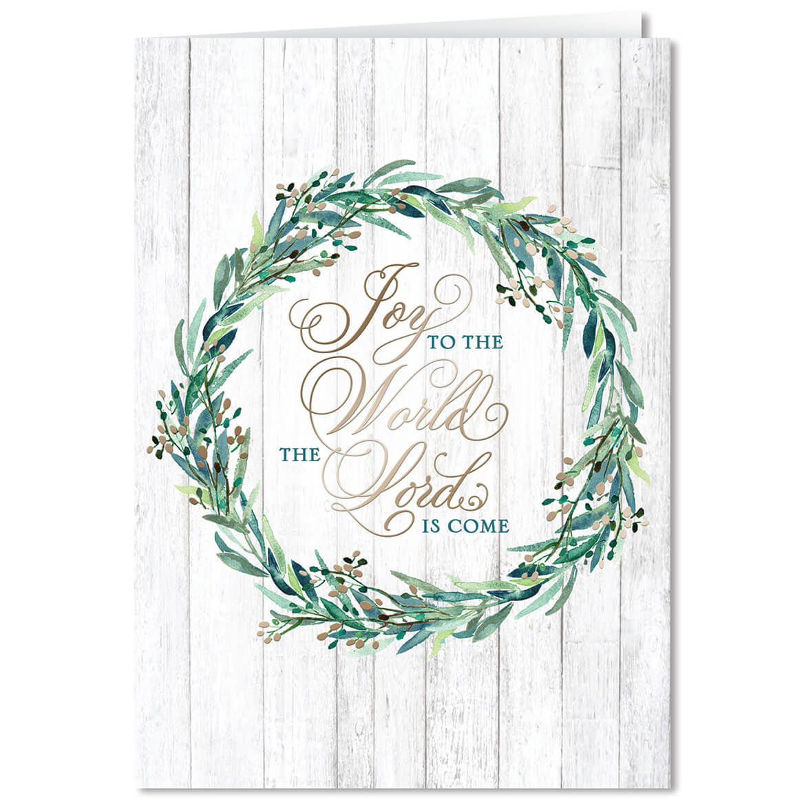 Personalized Joy to the World Christmas Card Set of 20 - Walter Drake
