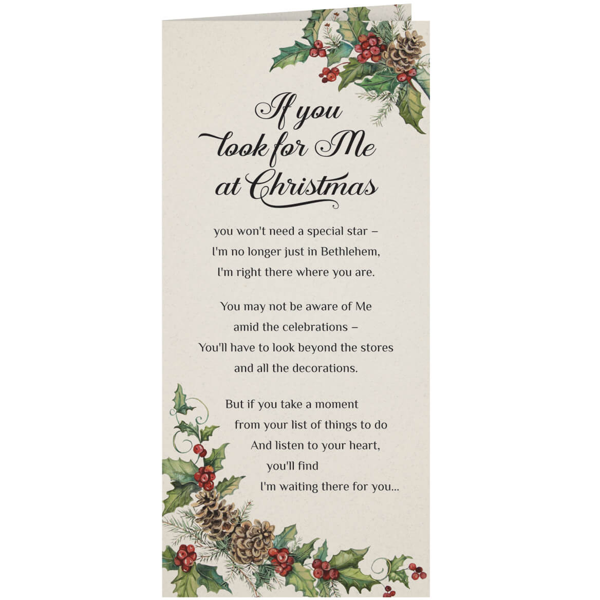 Personalized Looking Jesus Christmas Card Set Of 20 Walter Drake