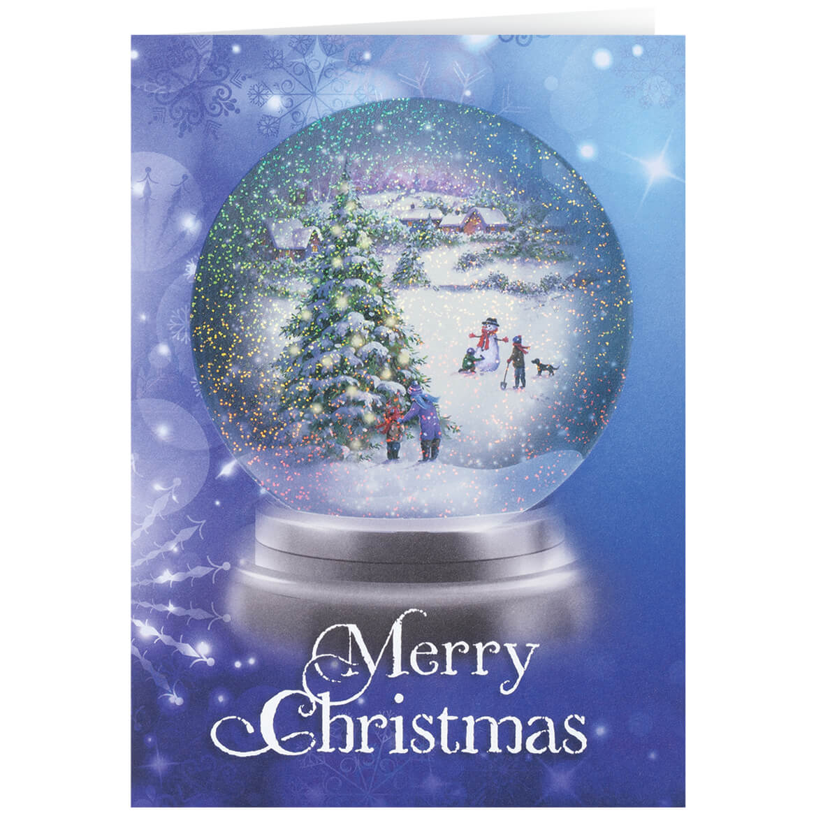 Personalized winter snowglobe christmas card set of 20 walter drake personalized winter snowglobe christmas cards set of 20 m4hsunfo