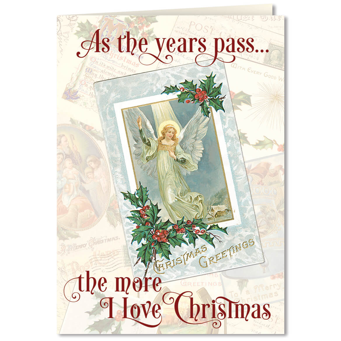 Personalized The More I Love Christmas Card Set of 20 - Walter Drake