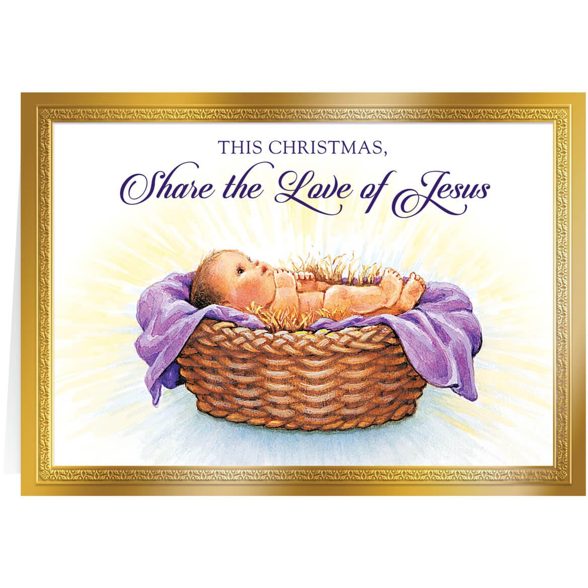 Personalized Love of Jesus Christmas Card Set of 20 - Walter Drake