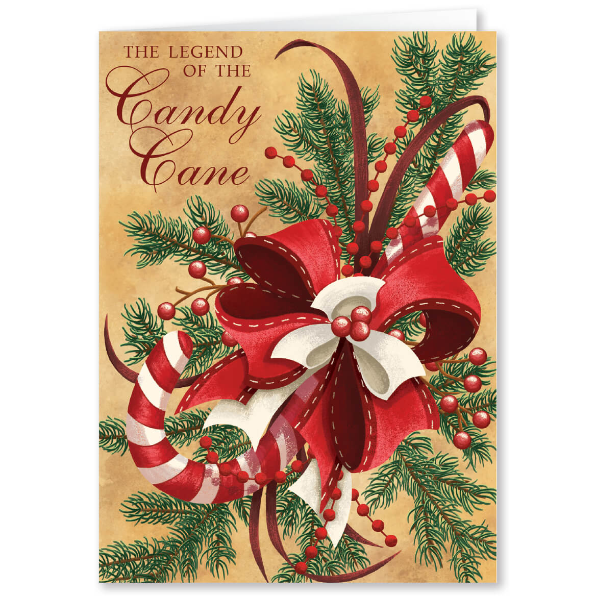 personalized candy cane scented christmas card walter drake