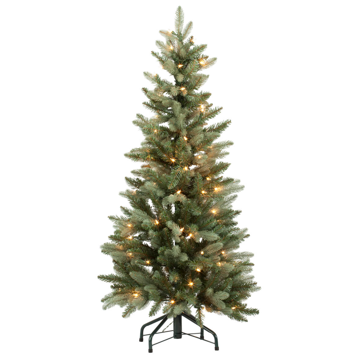 4 foot blue spruce tree with lights by northwoods