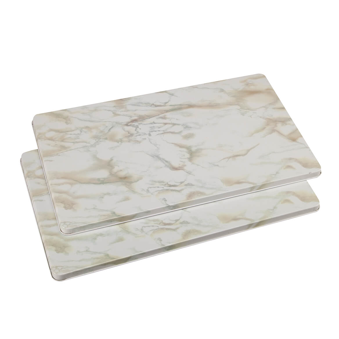 White Marble Burner Covers Set of 2-362361