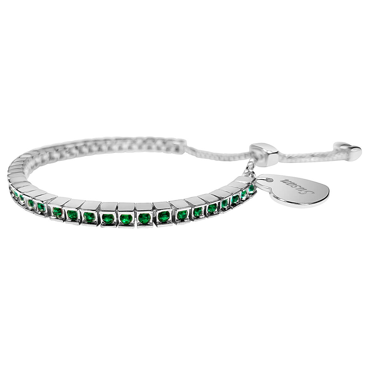 Personalized Birthstone Crystal Slide Bracelet-362421