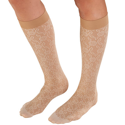 11c0a43de Celeste Stein Lace Compression Socks