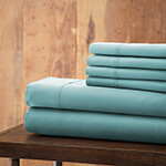 Hotel 5th Ave. 6pc Microfiber Sheet Set - Lt Blue King