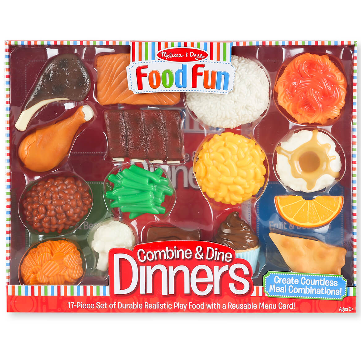 Melissa Doug Food Fun Combine Dine Dinners Red Walter Drake
