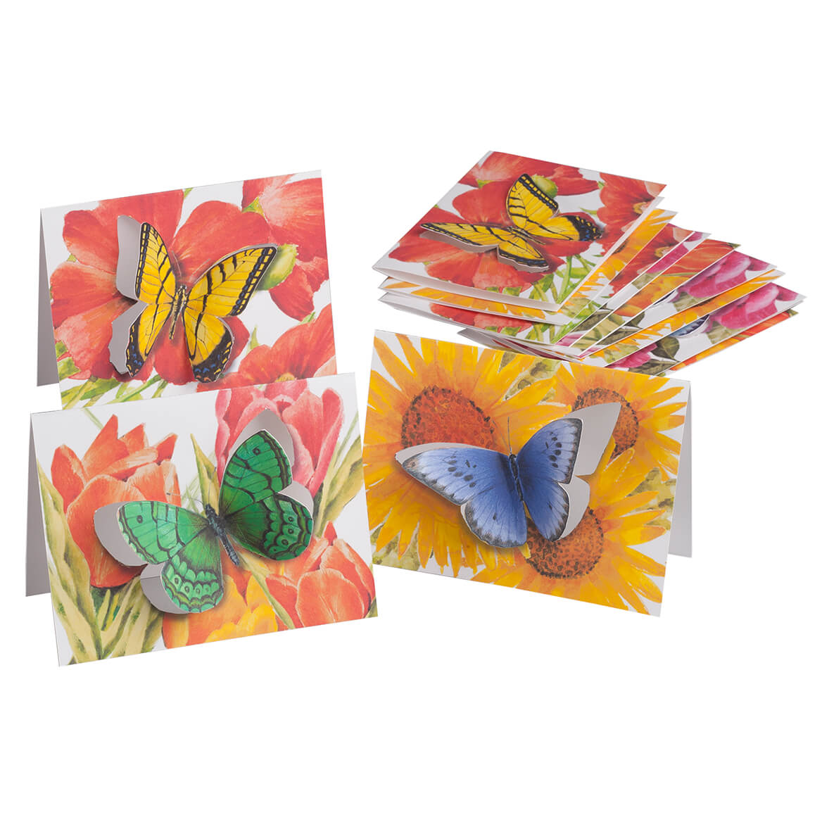 Butterfly Die Cut Note Cards Set/12-362929