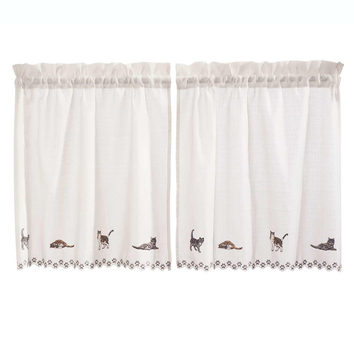 Cats Embroidered Tier Pair-363337