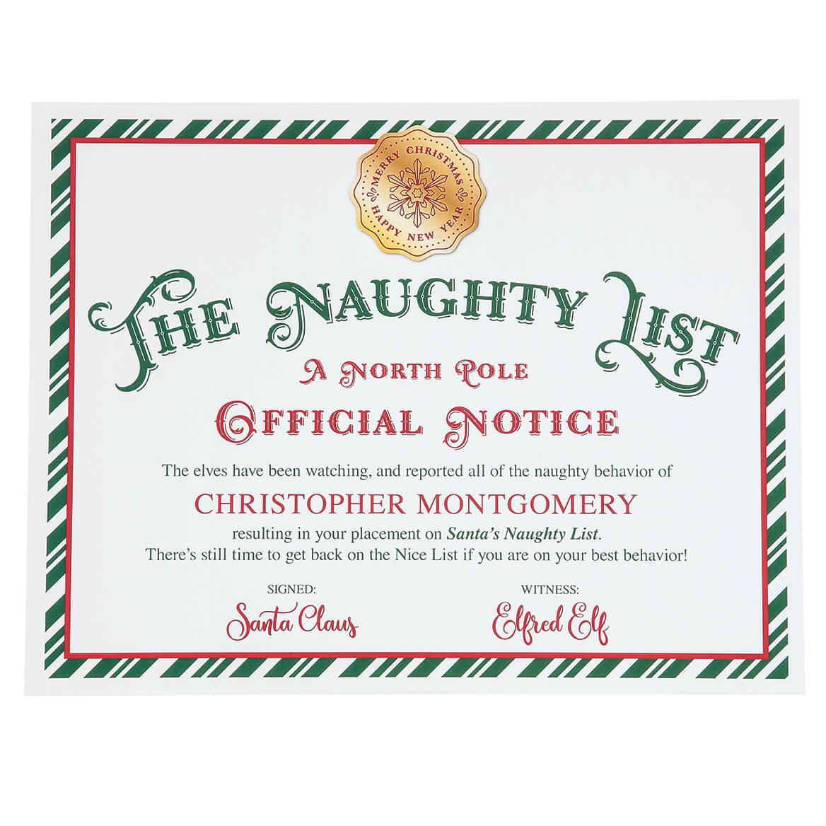Personalized Santa S Nice List Certificate Walter Drake