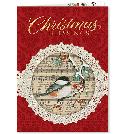 Christmas cards holiday cards greeting cards walter drake personalized christmas chickadee christmas cards set of 20 364040 m4hsunfo