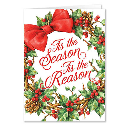 Personalized Tis The Season Christmas Cards Set Of 20 364059