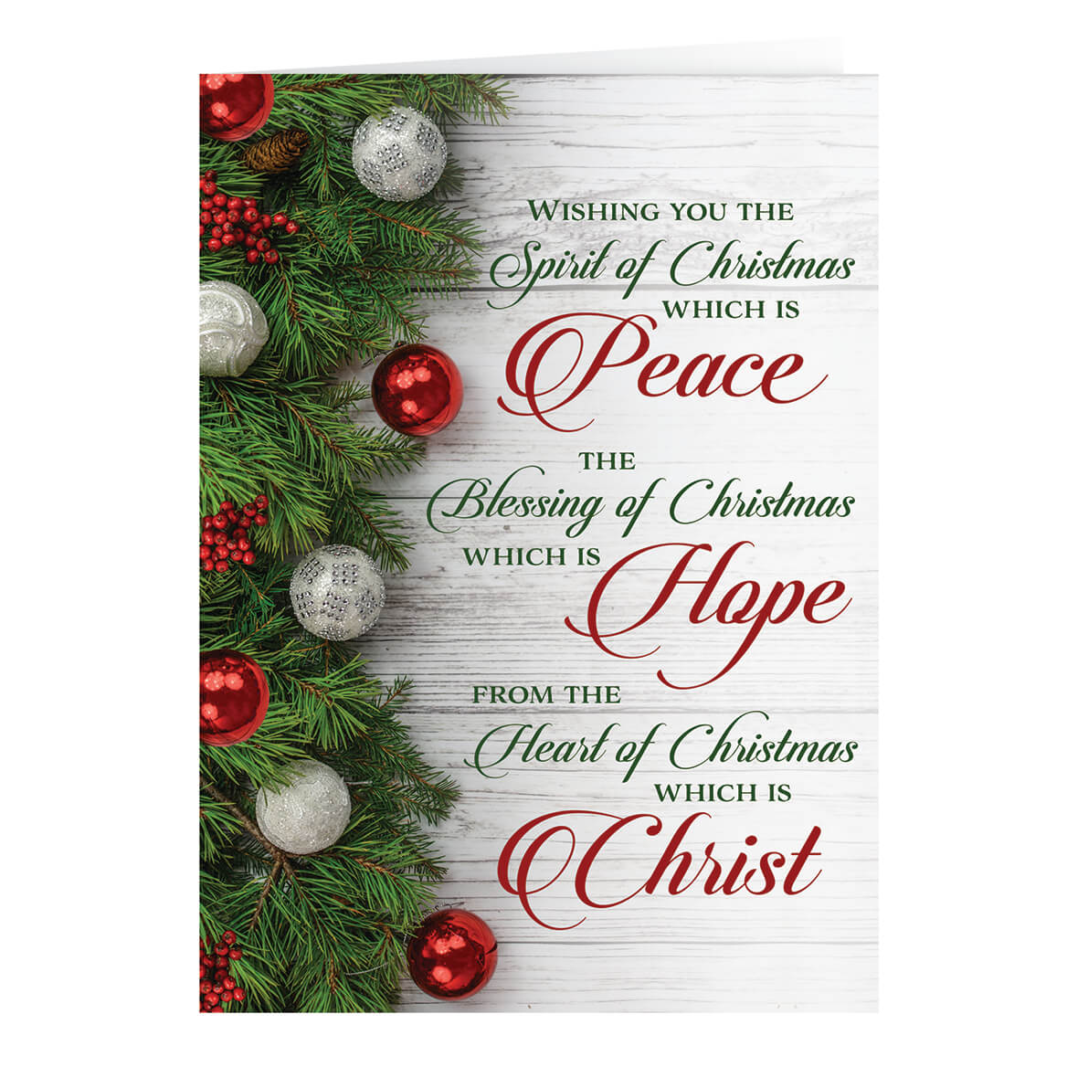 Peace, Hope, Christ -Personalized Christmas Card - Walter Drake